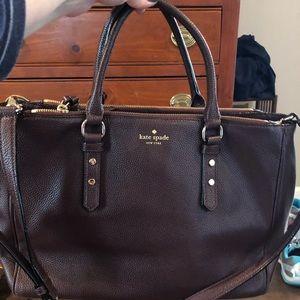 Kate Spade deep purple handbag